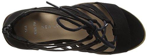 1 Sandalias Negro Oliana de Punta Mujer Foot para Black Wide Look New Descubierta gIwxqT7vv