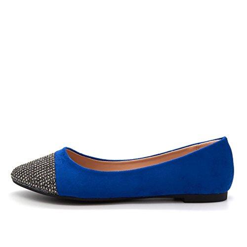 London Footwear Fleur, Women's Ballet Flats Blue