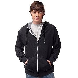 Global Blank Slim Fit Lightweight Zip Up Hoodie Men and Women Hooded Sweatshirt
