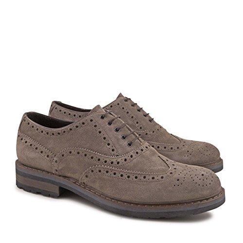 Leonardo Chaussures À Lacets En Daim Gris Hommes Chaussures