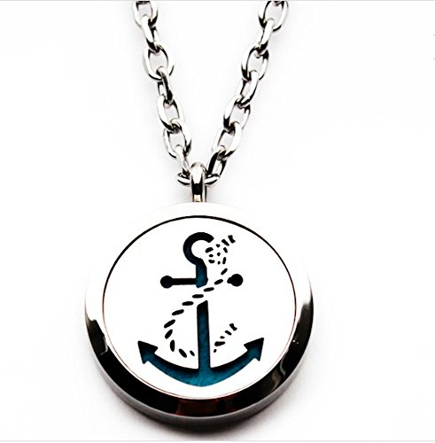 Anchor-Essential-Oil-Diffuser-Necklace-Aromatherapy-Pendant-Jewelry-Bag-and-Extra-Pads