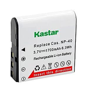 Kastar USB Charger, Battery for CNP40-2 CNP40 NP-40, Kodak, HP Camera