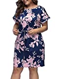 Lover-Beauty Womens Plus Size Casual Summer Dresses with Short Sleeves