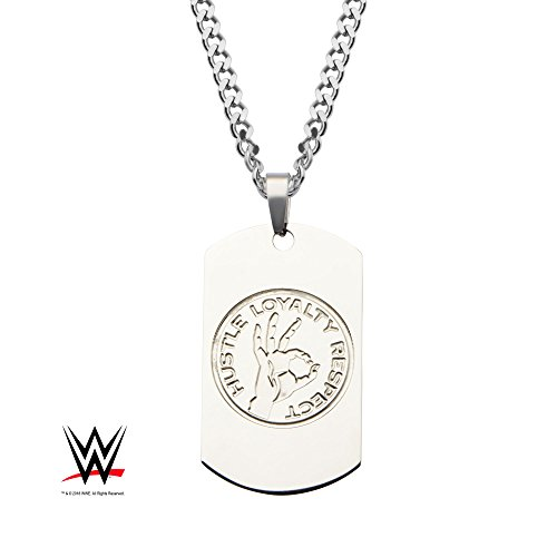 Officially Licensed WWE, John Cena Dog Tag Pendant with Chain, Chain Length: 24 inches by Officially Licensed