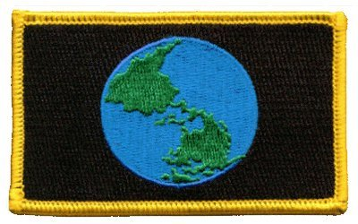 Earth iron-on embroidered patch (Earth Patches Planet)