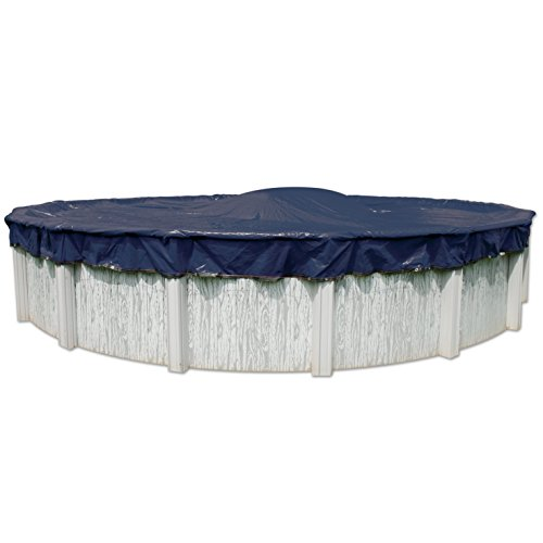 (In The Swim Midwest Canvas 12 ft Round Swimming Pool Winter Cover, 10-Year Warranty)