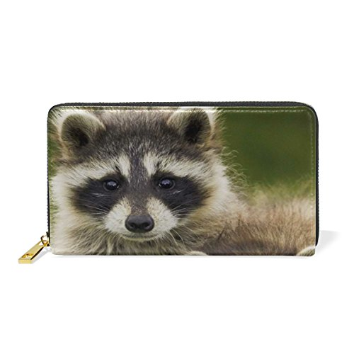 LORVIES Couple Raccoon Leather Clutch Purse Long Wallet Card Holder Organizer by LORVIES