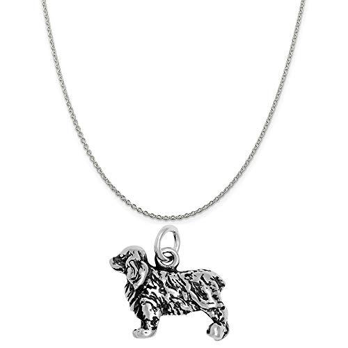 Raposa Elegance Sterling Silver 3D Cocker Spaniel Charm on a 20