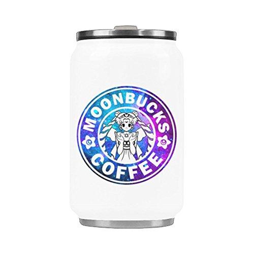 WECE Moonbucks Coffee Water Bottle Stainless Steel Travel Cup Car Cup Coffee Mug Tea Cup - 10.3 OZ