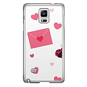 Loud Universe Samsung Galaxy Note 4 Love Valentine A Valentine 12 Transparent Edge Case - Brown