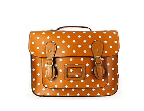 Foxlady - Backpack Bags With Polka Dots To Brown Woman