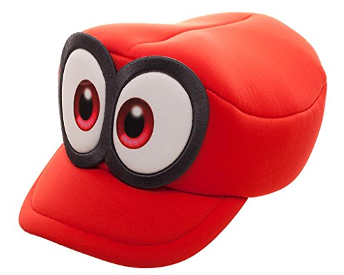 Nintendo Super Mario Odyssey Cappy Hat Cosplay Accessory Red]()