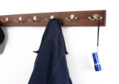 Solid Cherry Wall mounted Coat Rack with Satin - Cherry Wall Coat Rack