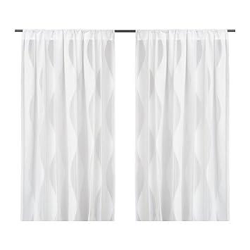 Ikea Murruta Gardinen 1 Paar Weiss 145x300 Cm Amazon De Kuche