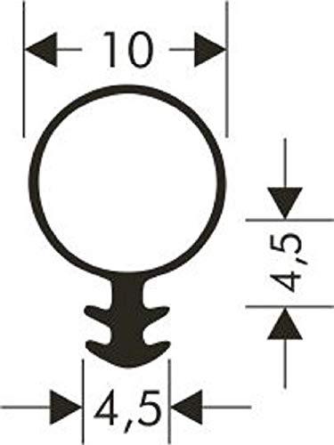 Silikonschlauchdichtung-Fensterdichtung 10mm Kopf /Ø 3mm Nut SK-414
