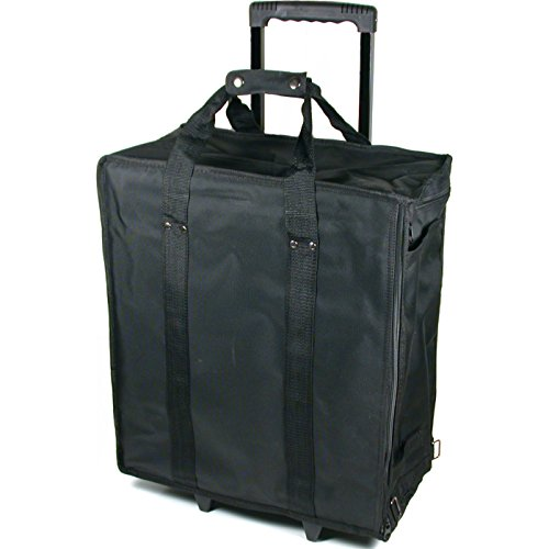 17 Tray Jewelry Display Carrying Case Rolling W/trays