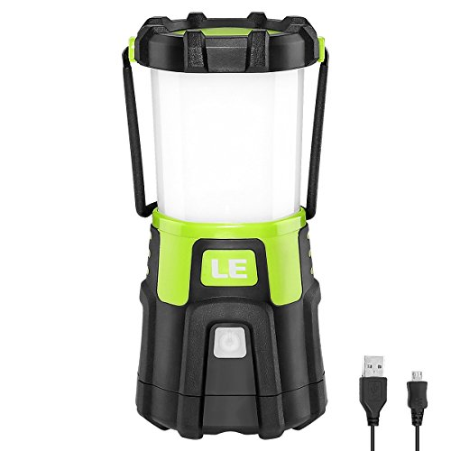 LE LED Dimmable Camping Lantern Color Temperature Brightness Adjustable USB Rechargeable Output Power Bank Function Outdoor Waterproof Portable Camping Hiking Outage Emergency (Lantern Rechargeable Led)