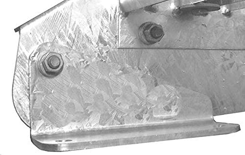 Stahltreppe Industrietreppe Aussentreppe Treppe 12 Stufen-Breite 70cm Variable Geschossh/öhe 180-240cm mit einseitigem Gel/änder