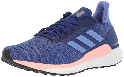 adidas Women's Solar Glide Running Shoe, raw Grey/Real Lilac/Black, 7 M ()