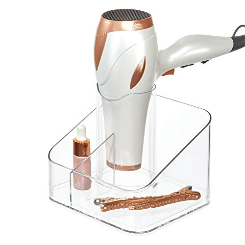 iDesign Clarity Care Divided Organizer, Blow Bathroom, Vanity Countertop, Desktop, Bedroom, College Dorm, 6.5