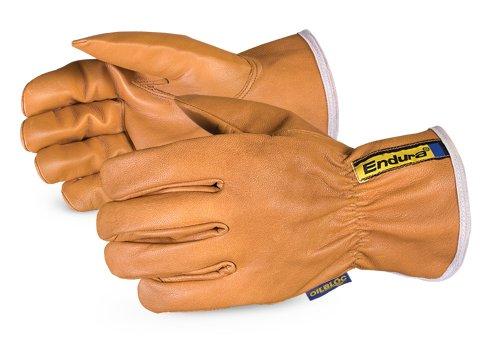 378GOBTKLL Endura Kevlar-Lined Waterstop/Oilbloc Winter Goat-Grain Drivers Glove, Size ()
