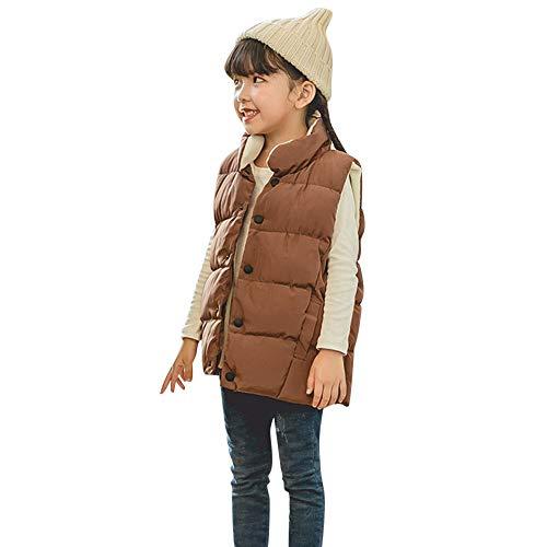 Children Boys Girls Simple Fashion Winter Sleeveless Keep