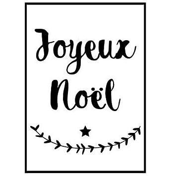 Sticker De Noël Pour Vitre Ou Surface Murale Joyeux Noël