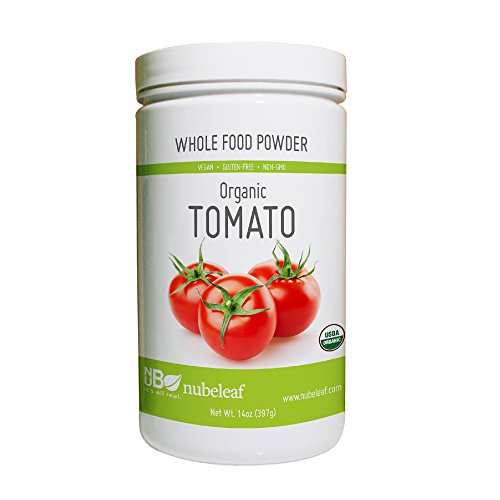 Nubeleaf Tomato Powder - Non-GMO, Gluten-Free, Raw, Organic, Vegan Source of Antioxidants, Essential Vitamins & Minerals - Single-Ingredient Nutrient Rich Superfood for Cooking, Baking, Smoothies - Lycopene Tomato Juice