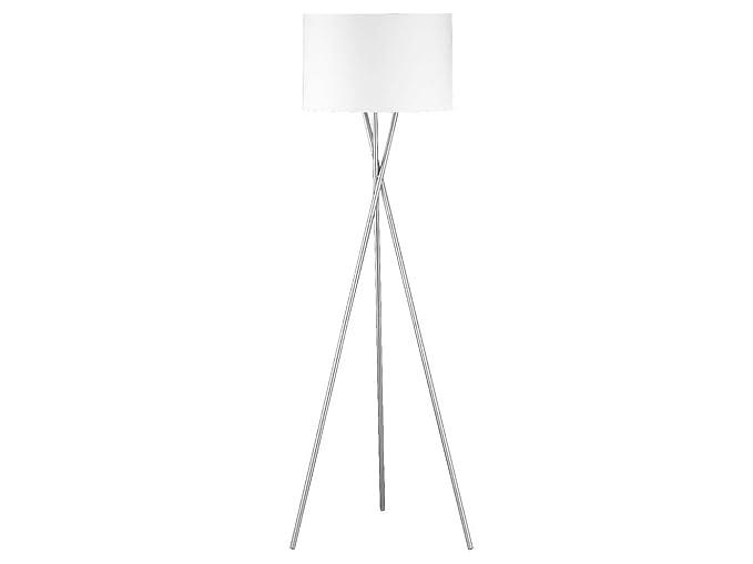 Lámpara de pie de diseño moderna con pantalla de tela blanca ...