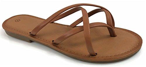 Girls Club Alva Strappy Flip Flops Summer Sandal