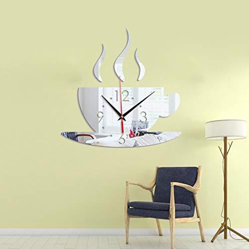 (FIged 3D DIY Roman Numbers Acrylic Mirror Wall Sticker/Mural Decals,Clock Home Decor(28x28x14cm))