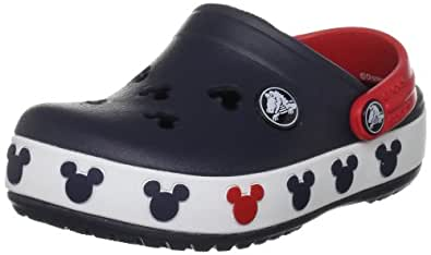 Crocs Crocband Mickey II Clog (Toddler/Little Kid),Navy/Red,10-11 M US Toddler