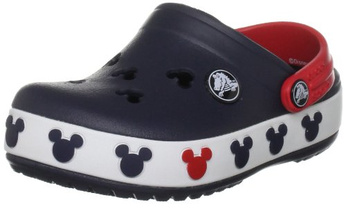 Crocs Crocband Mickey II Clog (Toddler/Little Kid),Navy/Red,J2 US Little Kid by Crocs