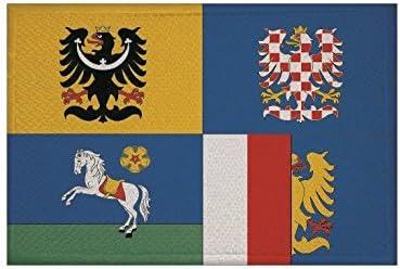 U24 Aufnäher Mährisch Schlesien Region Tschechien Fahne Flagge Aufbügler Patch 9 X 6 Cm Auto