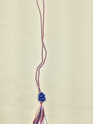 100 Red White & Blue Tassels With Slide Bob (10 Inch, Blue) by State Line Ribbon & Trim