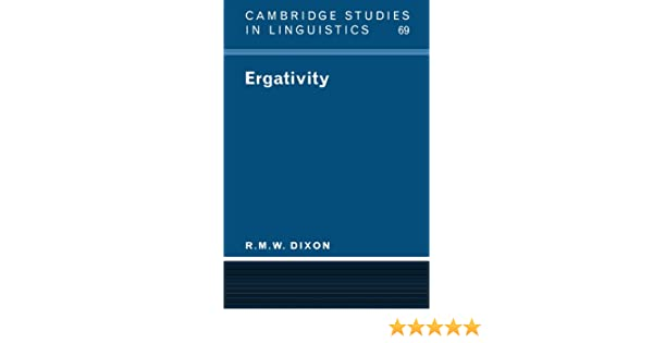 ergativity dixon r m w
