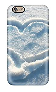 Iphone 6 Case Slim [ultra Fit] Heart In The Snow Protective Case Cover