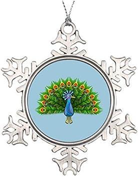 Ideas para decorar árboles de Navidad, árbol de pavo real anied decoraciones para bodas, Navidad, copo de nieve, adornos divertidos, 3 pulgadas