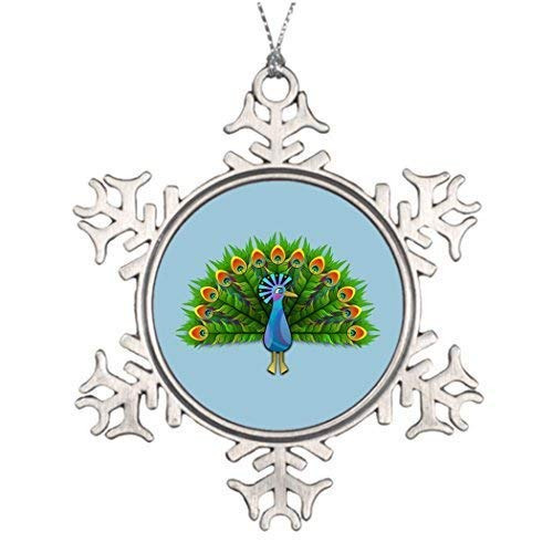 Cheyan Ideas for Decorating Christmas Trees Anied Peacock Tree Decorations for Weddings Christmas Snowflake Ornaments 3 inch (Decorating Ideas Peacock Christmas)