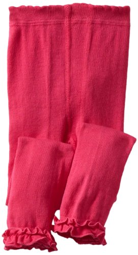 Jefferies Socks Baby Girls' Ruffle Footless Tight, Hot Pink, 18 24 (Hot Pink Ruffle)