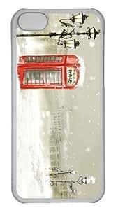 iPhone 5C Case Customized Unique Print Design Phone Booth Winter iPhone 5c Cases Transparent