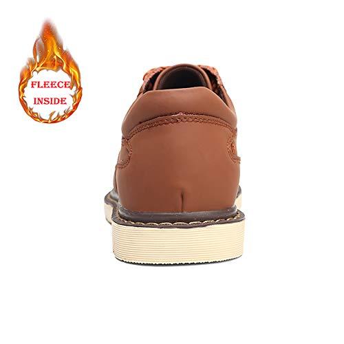 Size Hombres Los Low Winter Dentro Brown Trabajo Leisure Big De Casual Warm Light Oxfords Top Fleece Shoes qE8nF7F5W