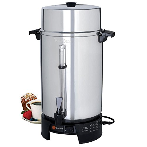 (58010V Commercial 100 Cup Aluminum Coffee Maker - 220V (International Use Only) By TableTop King)
