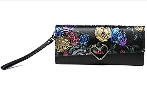 Printing Wedding Bag Evening Diagonal Prom Flower Leather Party Women's Banquet Clutch D Bag Shoulder Evening ngPx4qwWI