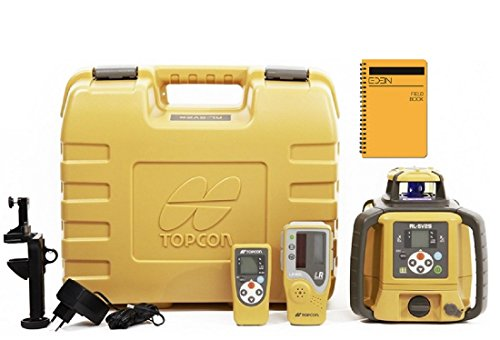 (Topcon RL-SV2S Dual Grade Rotary Laser with BONUS EDEN Field Book | IP66 Rating Drop, Dust, Water Resistant | 800m Construction Laser | Includes LS-80L Receiver, Detector Holder, Hard Case)