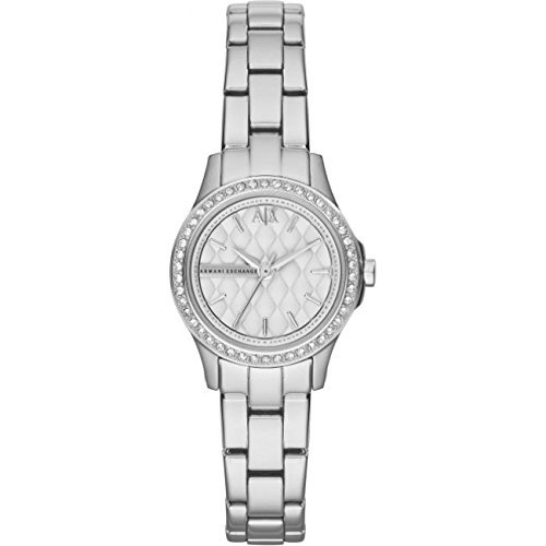 Armani Exchange Silver Dial Stainless Steel Ladies Watch AX5219 -
