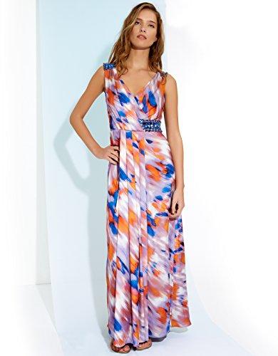 Monsoon Womens Sicily Maxi Dress Size 10 Orange