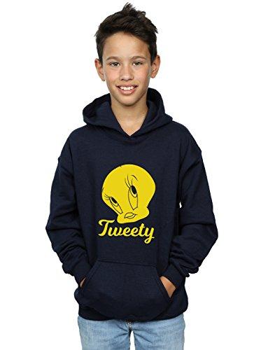 Looney Tunes Boys Tweety Pie Head Hoodie 9-11 Years Navy - Tweety Hoodie