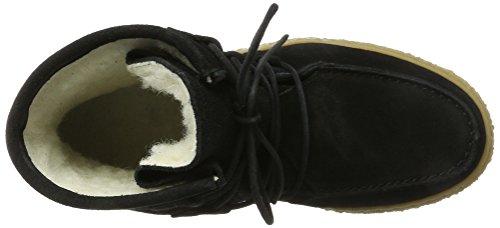 cashott A18110 - Botas Mocasines Mujer Schwarz (Black Suede)