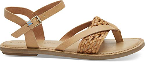 Narrow Braid - TOMS Women's Lexie Honey Leather/Synthetic Braid 5 B US